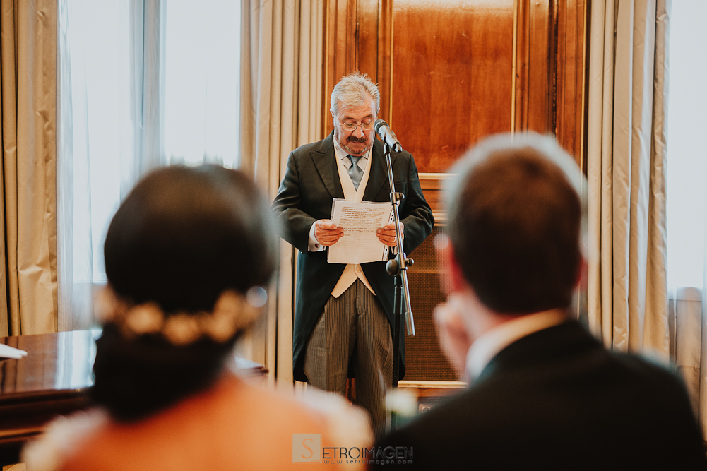 boda civil en el hotel palace