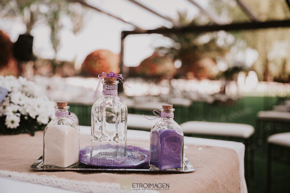 boda civil en el jardín de acadi