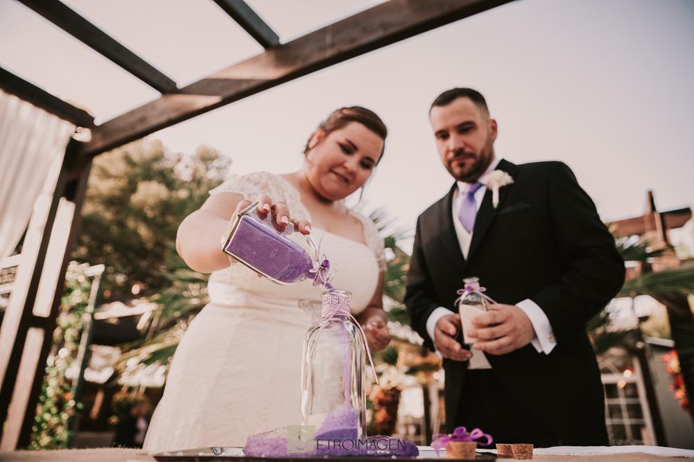 boda civil en jardín de acadi
